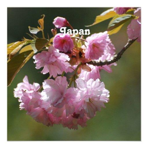 Japanese Cherry Tree Personalized Invitations