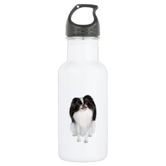 Japanese Chin (A) - Black and white 532 Ml Water Bottle