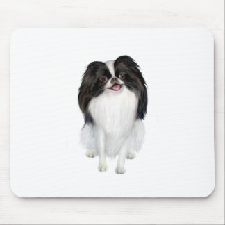Japanese Chin (A) - Black and white Mouse Pad