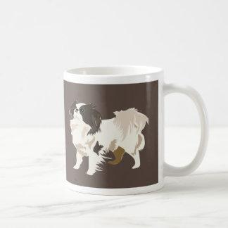 Japanese chin basic white mug
