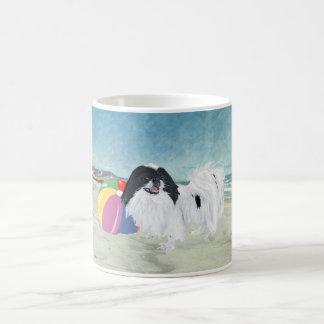 Japanese Chin Beach Ball Basic White Mug