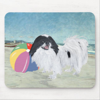 Japanese Chin Beach Ball Mouse Pad