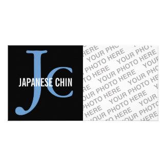 Japanese Chin Breed Monogram Photo Cards