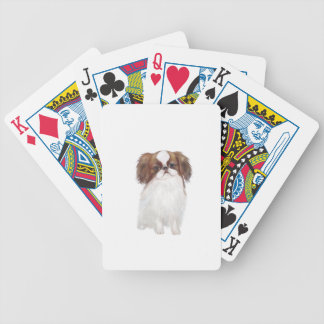 Japanese Chin brown-white Bicycle Playing Cards