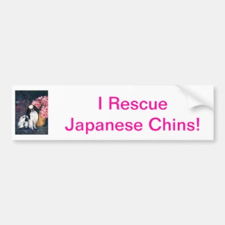 Japanese Chin Bumper Sticker