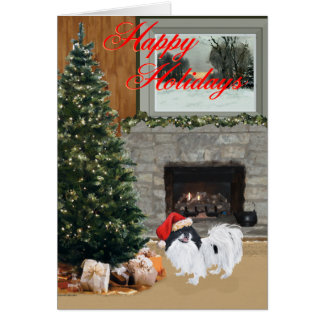 Japanese Chin Christmas Card