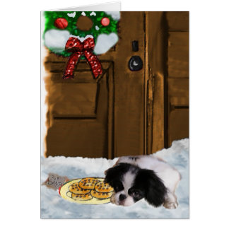 Japanese Chin Christmas Gifts Card