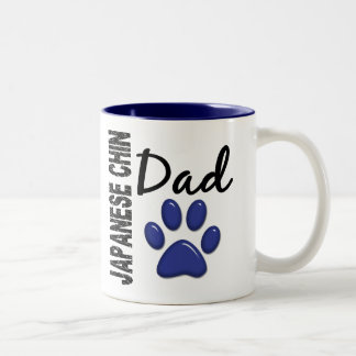 Japanese Chin Dad 2 Two-Tone Coffee Mug