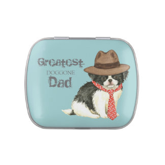 Japanese Chin Dad Candy Tins