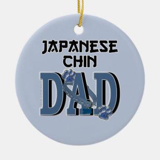 Japanese Chin DAD Round Ceramic Decoration