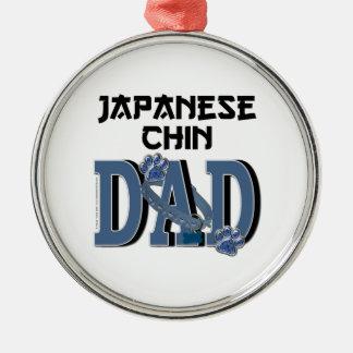Japanese Chin DAD Christmas Tree Ornament