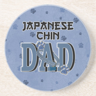 Japanese Chin DAD Drink Coasters