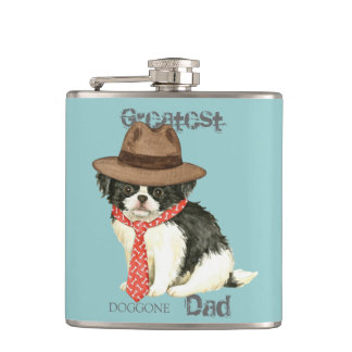 Japanese Chin Dad Flasks