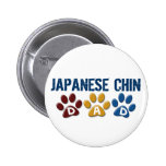 JAPANESE CHIN Dad Paw Print 1 Buttons