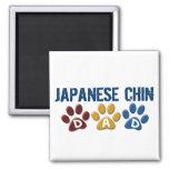 JAPANESE CHIN Dad Paw Print 1 Fridge Magnets