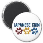 JAPANESE CHIN Dad Paw Print 1 Refrigerator Magnet