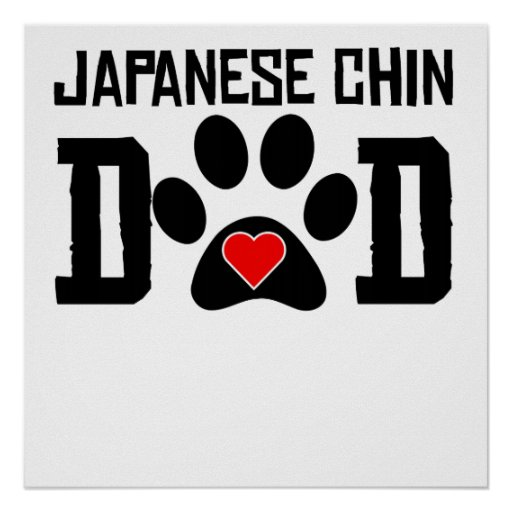Japanese Chin Dad Poster