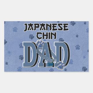 Japanese Chin DAD Rectangle Sticker