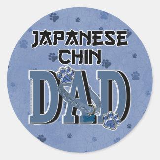 Japanese Chin DAD Round Sticker