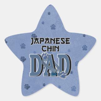 Japanese Chin DAD Star Sticker