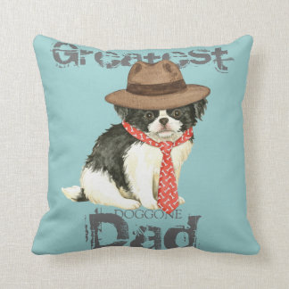 Japanese Chin Dad Throw Cushions