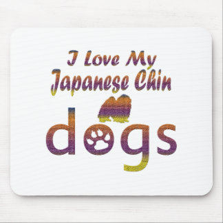 Japanese Chin designs Mouse Pad