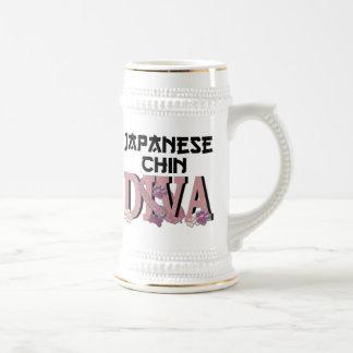 Japanese Chin DIVA Beer Steins