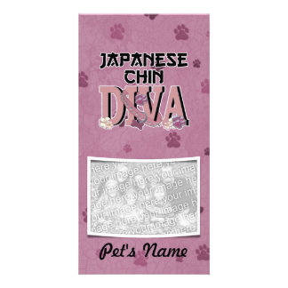 Japanese Chin DIVA Photo Greeting Card