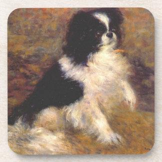 Japanese Chin Dog Art Coasters