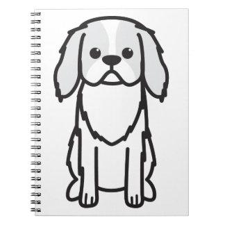 Japanese Chin Dog Cartoon Note Books