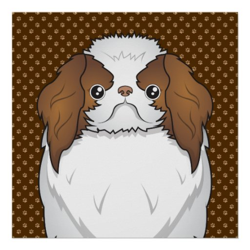 Japanese Chin Dog Cartoon Paws Print