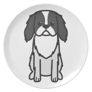 Japanese Chin Dog Cartoon Party Plates