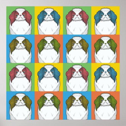Japanese Chin Dog Cartoon Pop-Art Poster