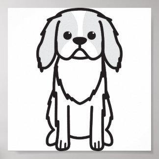 Japanese Chin Dog Cartoon Print