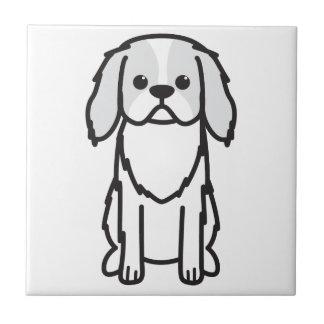 Japanese Chin Dog Cartoon Ceramic Tile
