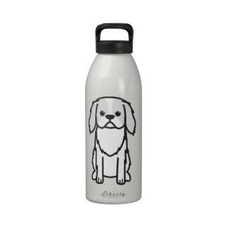 Japanese Chin Dog Cartoon Reusable Water Bottle