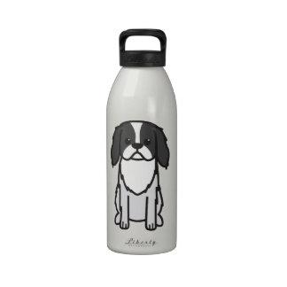 Japanese Chin Dog Cartoon Drinking Bottles
