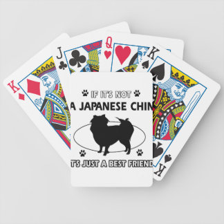 JAPANESE CHIN dog designs Bicycle Card Deck
