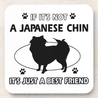 JAPANESE CHIN dog designs Drink Coaster