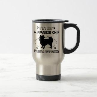 JAPANESE CHIN dog designs Stainless Steel Travel Mug