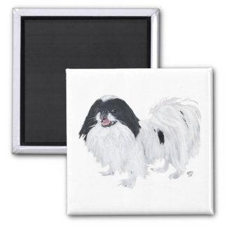 Japanese Chin Dog Square Magnet