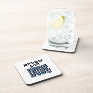 Japanese Chin DUDE Beverage Coasters