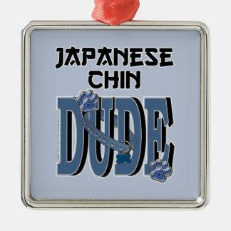 Japanese Chin DUDE Christmas Ornaments