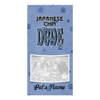 Japanese Chin DUDE Photo Card Template