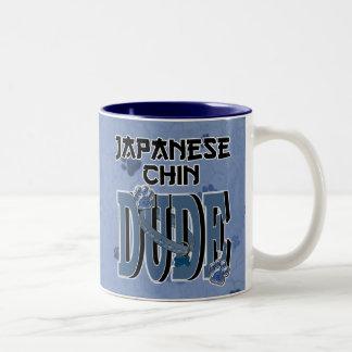 Japanese Chin DUDE Two-Tone Mug