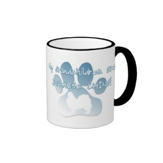 Japanese Chin Grandchildren Ringer Coffee Mug