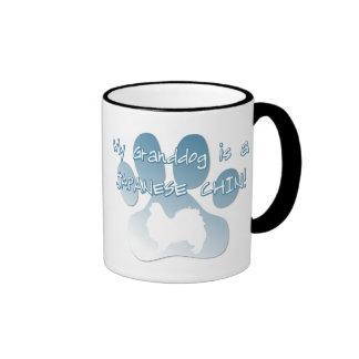 Japanese Chin Granddog Ringer Coffee Mug