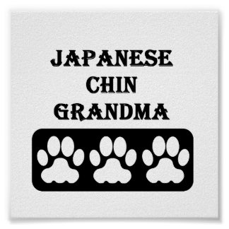 Japanese Chin Grandma Poster