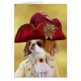 Japanese Chin Greeting Card Nobility Dogs Gift