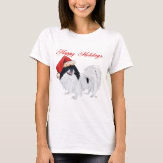 Japanese Chin Happy Holidays T-Shirt